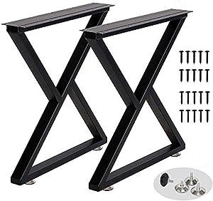 Metal Table Leg Desk Legs Heavy Duty Industrial Dining Table Legs Z Shape Coffee Table Legs DIY Iron Bench Legs,Furniture Legs (Z Shape-H28-W24)