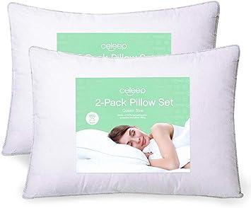 Amazon.com: Equinox pack de 2 almohadas para cama de 20 x 26 ...