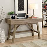 Tracey Two Drawer Writing Desk - 47''W Rustic Gray Laminate Dimensions: 47.09''W x 21.26''D x 31.1''H Weight: 81 lbs