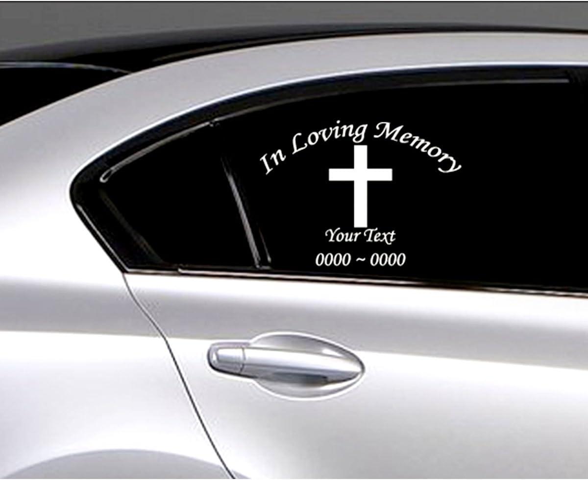 In Loving Memory Vinyl Decal Sticker Personalized Custom Car Window Guitar