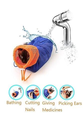 Bolsa de Gatos para Transporte Limpieza Higiene Preparación (Azul): Amazon.es: Deportes y aire libre