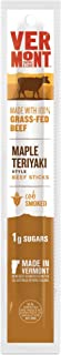 product image for Vermont Smoke & Cure Grass Fed Beef Jerky Sticks, Maple Teriyaki, 1oz Stick