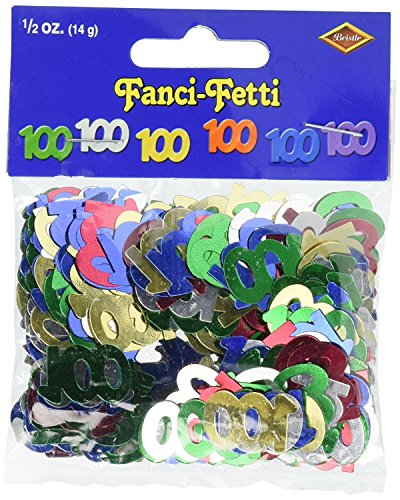 Confetti Silhouette (Fanci-Fetti 100 Silhouettes (multi-color) Party Accessory (Value 3-Pack))