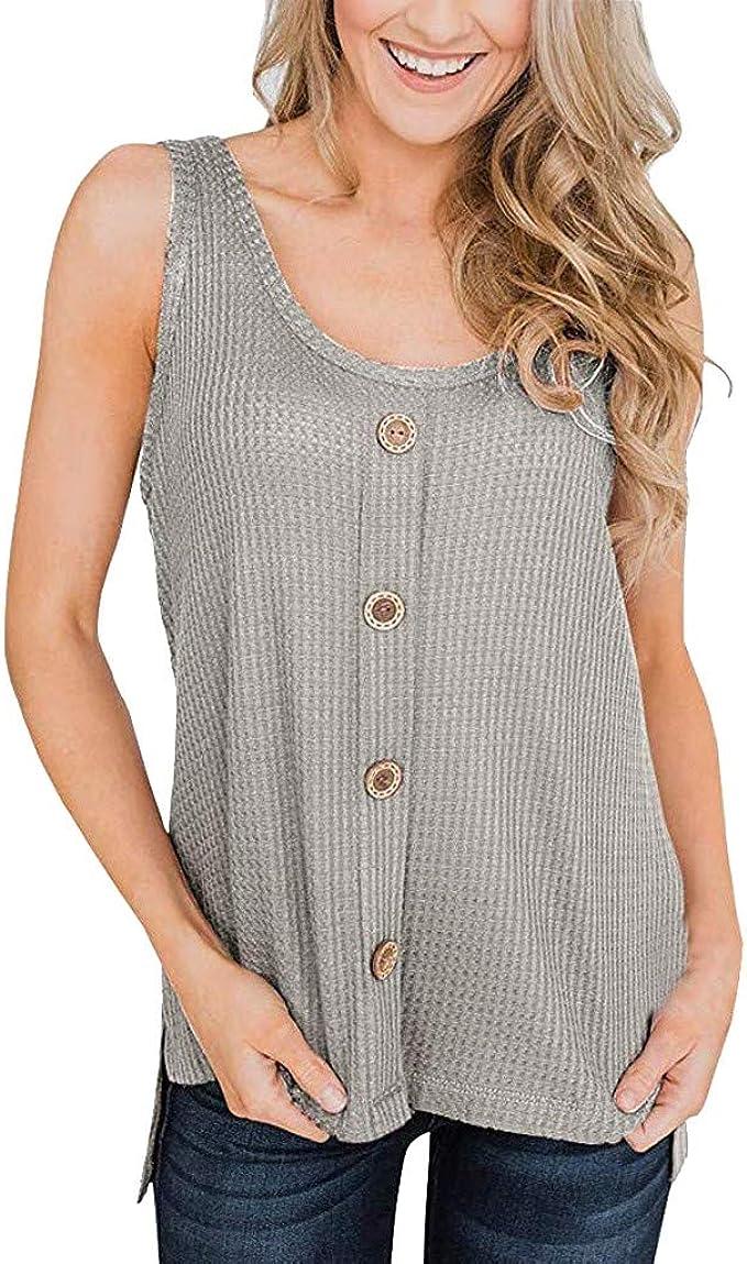 Linkay Camiseta para Mujer, túnica Corta, con patrón de ...
