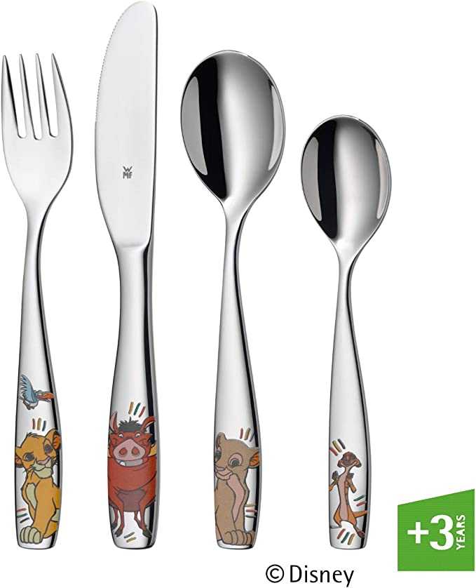 WMF Disney El Rey León - Cubertería para niños 4 piezas (tenedor ...