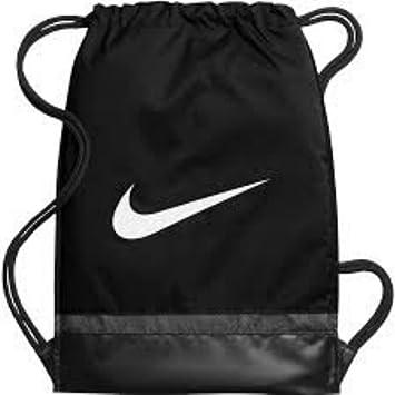 Nike Brasilia 8 Gymsack Mochila cordón Bolsa Gear Bolso Classic Negro Firma Blanco Swoosh Logo: Amazon.es: Deportes y aire libre