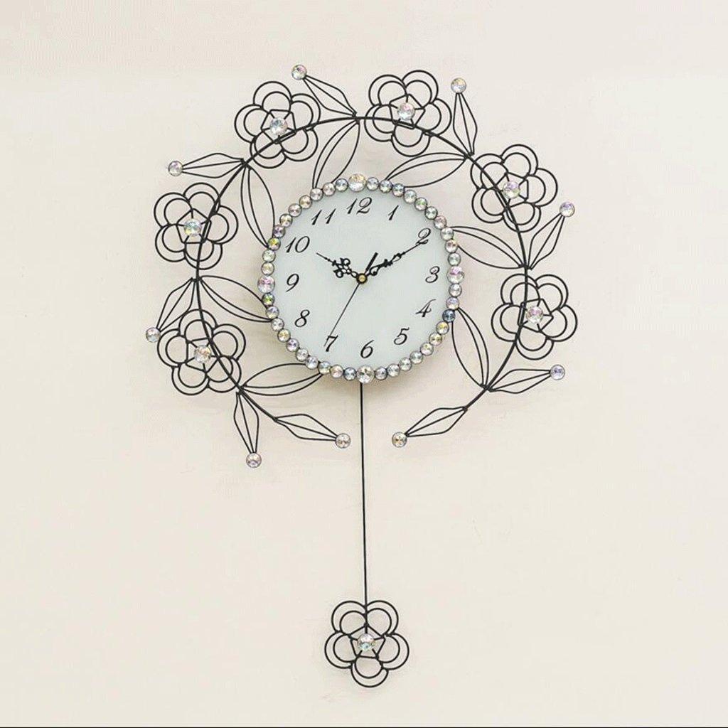 おしゃれな時計リビングルームクリエイティブ時計アートミュート壁時計スイング掛け時計 GAODUZI (色 : A) B07FBYMF4PA