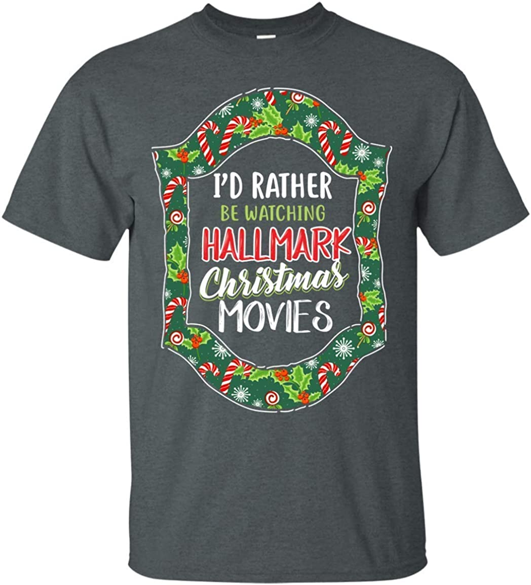 Top T I D Rather Be Watching Hallmark Fashion Design Mens T Shirts At Amazon Men S Clothing Store