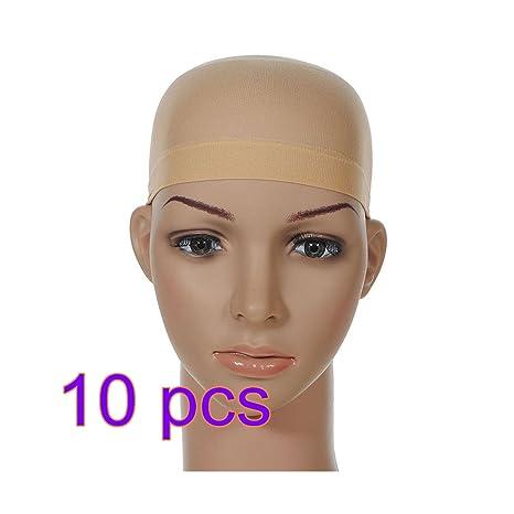 10X CAOLATOR Peluca Caps Redecillas de Peluca Pelucas Accesorios Usar Pelucas Herramientas Esenciales-Beige
