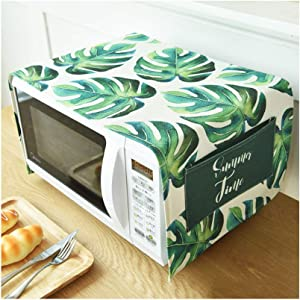 Toaster Cover/Microwave Oven Broiler Appliance Cover,Dust and Fingerprint Protection (Leaves02)