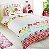 Owls Childrens/Girls Single Duvet Cover Bedding Set (Twin) (Multicolored)