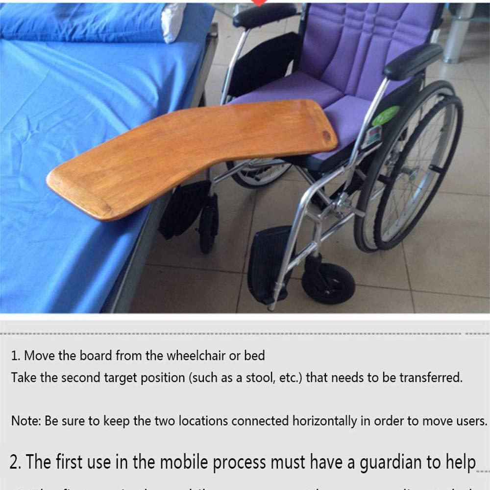 GLJY Tabla de Transferencia Curva, Tabla de Transferencia de Tabla de Cama Reforzada, Tabla de Transferencia para Movilidad Limitada y sillas de Ruedas, ...