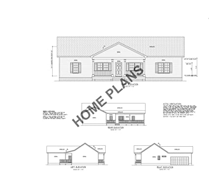 Amazon com: SQ FT HTD ? UNHT ? Plan # P-1026 Home/House