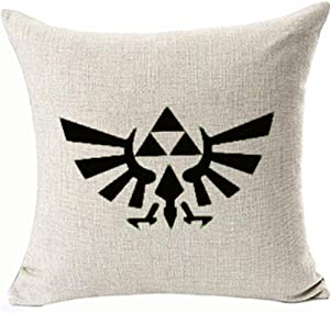 FaceYee 5 Zelda Triforce Cushion Pillows Covers Game Pillowcases Kids Home Couch Sofa Decor Two Side Color:Zelda Triforce
