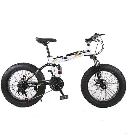 KOSGK Bicicleta MontañA Bicicletas Unisex 7/21/24/27/30 Speed Steel Frame 4.0 Fat Tires Spoke Wheels Suspension Folding Bike: Amazon.es: Hogar