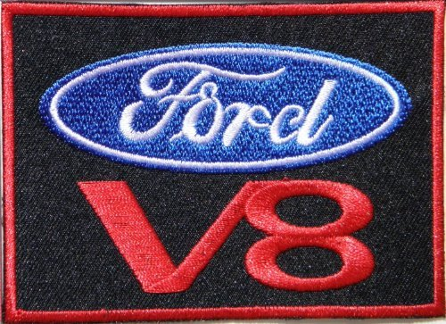 Ford V8 Cobra Shelby Mustang Gt500 Logo Racing Jacket T-shirt Patch Sew Iron on Embroidered Badge By Luk99