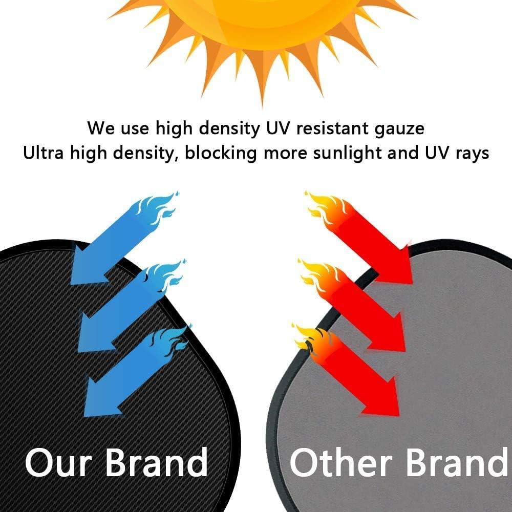 Parasol Coche Bebe,Bloqueo de Rayos UV Nocivos,Para Proteger Del Sol a Beb/és y Mascotas,Coche Sun Shade,Parasoles Autoadhesivos,F/ácil instalaci/ón 17  x 14 Pack de 2 Unidades