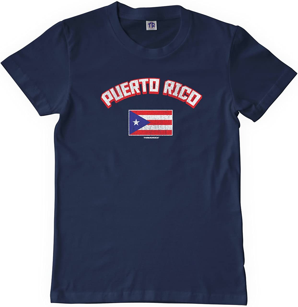 Kids Puerto Rican Pride Cute T-Shirt Short Sleeve Tee for 2-6 Years Old