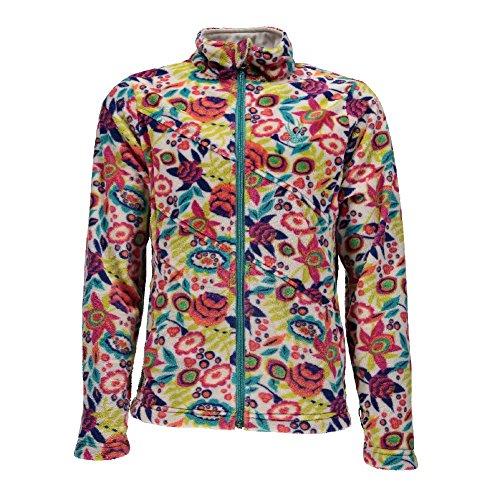 Spyder Girl's Celeste Fleece Jacket, White Large Ditz Print, -