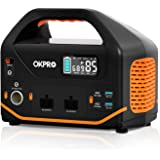 Portable Power Station, OKPRO Solar Generator, 555Wh/150,000mAh Solar Mobile Lithium Battery Pack with 2x110V/500W AC Outlets