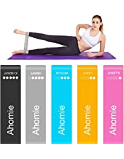 Ahomie Resistance Loop Bands, Workout Booty Exercise Bands for Legs and Butt, Pilates Flexbands for Body Stretching Yoga Fitness Training, Band Carry Bag