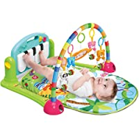 WYSWYG Baby Gym Jungle Musical Play Mats for Floor, Kick and Play Piano Gym Activity Center with Music, Lights, and Sounds Toys for Infants and Toddlers Aged 0 to 6 to 12 Months (Green)