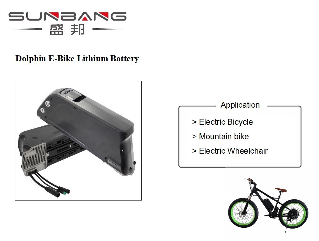 Sunbang factory directly sale and safety Samsung 18650 36v 10.4Ah dophin lithium ebike battery pack set including charger by Sunbang