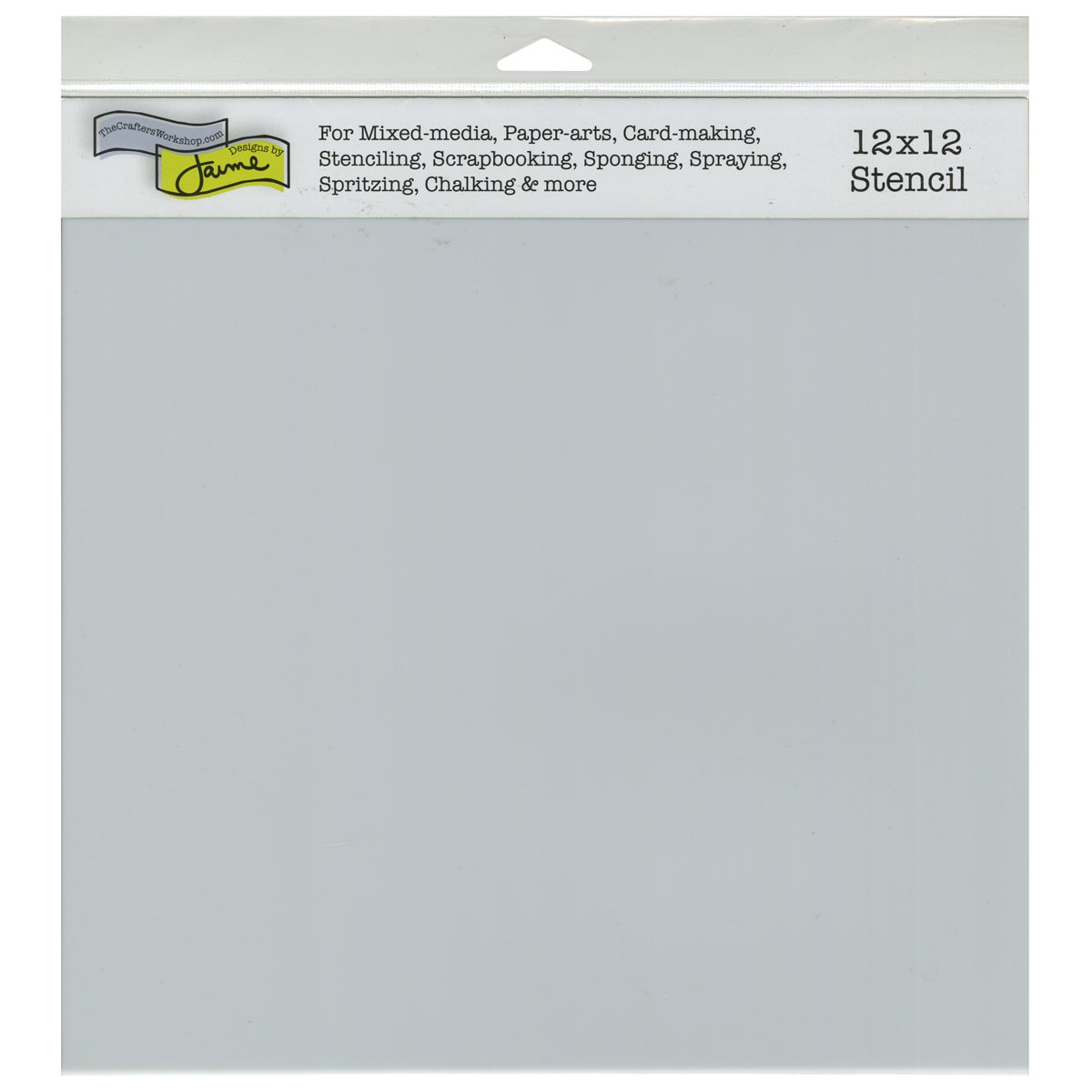 Crafters Workshop Plastic Template 12-inch x 12-inch Stencil Sheets TCW-340