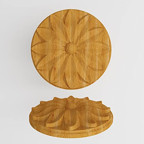 Furniture Wood Appliques Onlay Wood Carved Rosettes Applique Furniture  Decor DIY Furniture Trim Supplies Wall Ornaments