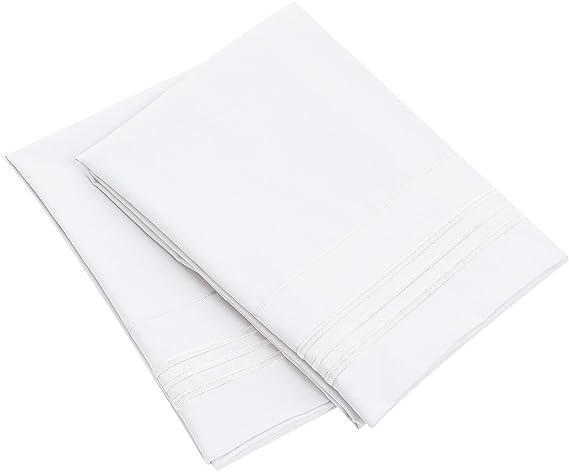 Bluedotsky Bedding Microfiber Pillowcase - Set of 2 - White, Standard