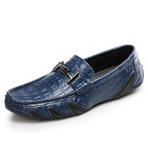 Hishoes Mokassin für Herren Freizeit Wildleder Loafers Flache Schuhe Slippers Fahren Halbschuhe