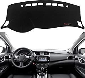 Yeeoy Dashboard Cover Felt Dash Mat Sun Cover Replacement for 2012 2013 2014 2015 2016 2017 2018 Sentra