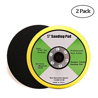 "Valianto 2Pcs 5-Inch Backing Pad, 5/16""-24 Thread 