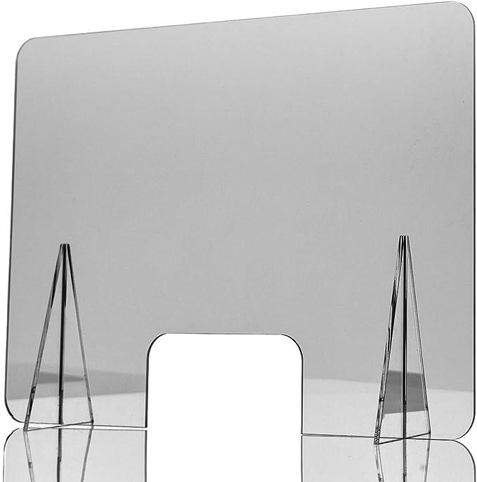 Mampara de Protección | Material Metacrilato | Transparente | Modelo Troya | 4-5 mm de Grosor | Buena Estabilidad | Automontable | Incluye Soportes de 4-8 mm | 60 x 40 cm: Amazon.es: Oficina y papelería