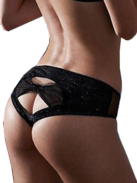 8fbebd144225 Victoria's Secret Sexy Black Bow Mesh Hiphugger Panty Medium at ...