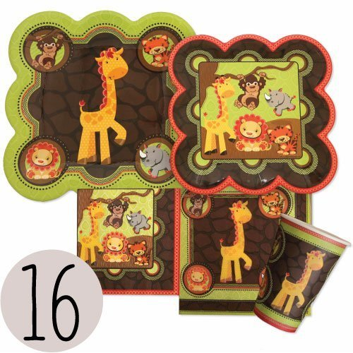 safari baby shower plates - 8