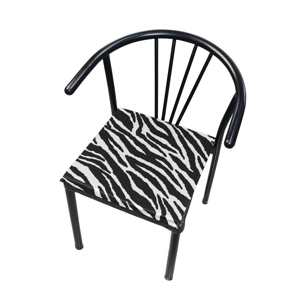TSWEETHOME Comfort Memory Foam Square Chair Cushion Seat Cushion with Animal Skins Zebra Print Chair Pads for Floors Dining Office Chairs by TSWEETHOME (Image #4)