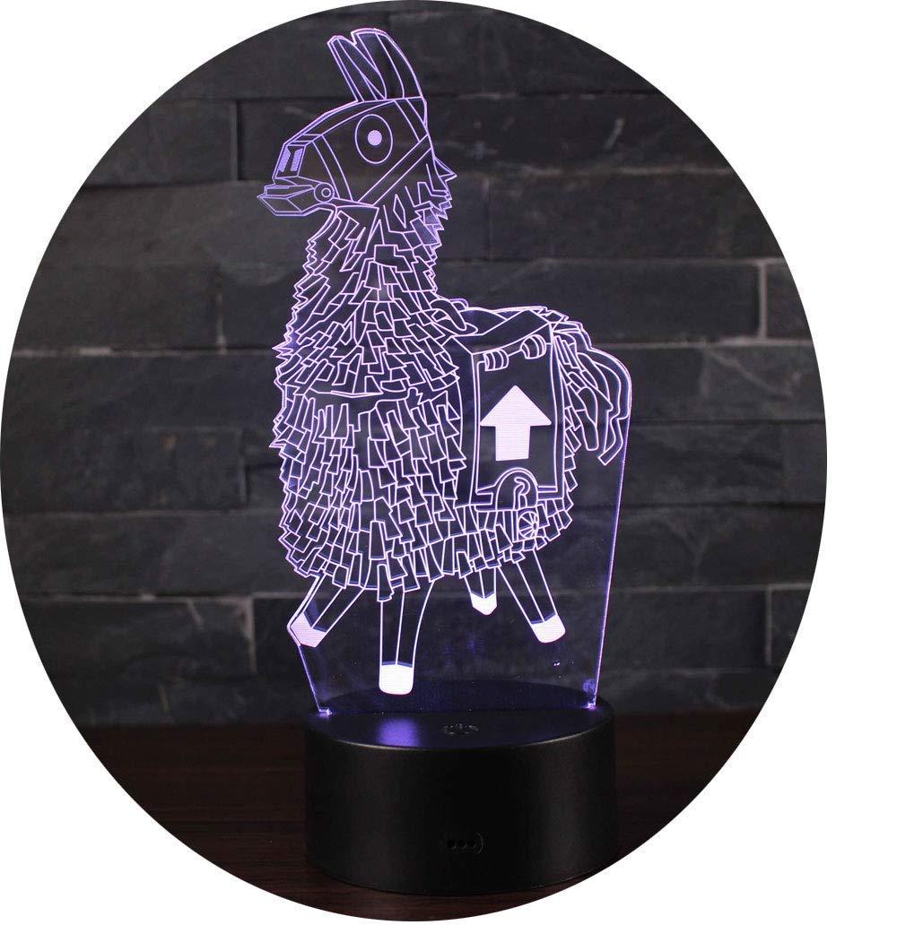 Leisu 3D Illusion Lampe LED Nachtlicht optische Täuschung Lampe Schreibtischlampe Tischlampe 7 Farben mit Acryl-Ebene & ABS Basis für Schlafzimmer Kinder Weihnachts Valentine Geburtstag geschenk (A4)