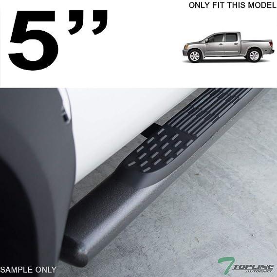 "Fits 04-19 Nissan Titan Crew Cab 5/"" Heavyduty Oval Blk Side Step Nerf Bars Board"