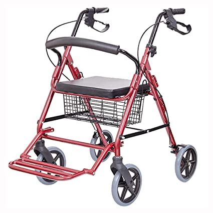 FKDErollator Ayuda de Movilidad Plegable para Caminar, Andador, Andador, Carrito de Compras con