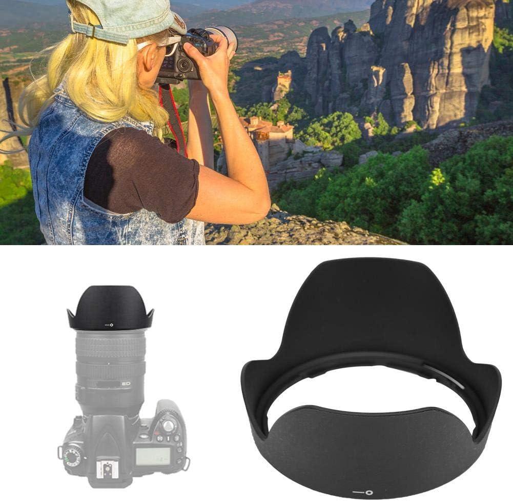 Lens Hood Black Plastic Mount Lens Hood for AF 24-85mm F//2.8 2.8-4d AF-S VR Lenses Camera Lens Hood