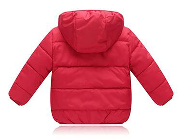 Unisex Children Winter Long Sleeve Lightweight Hooded Down Coat Warm Jacket Coat