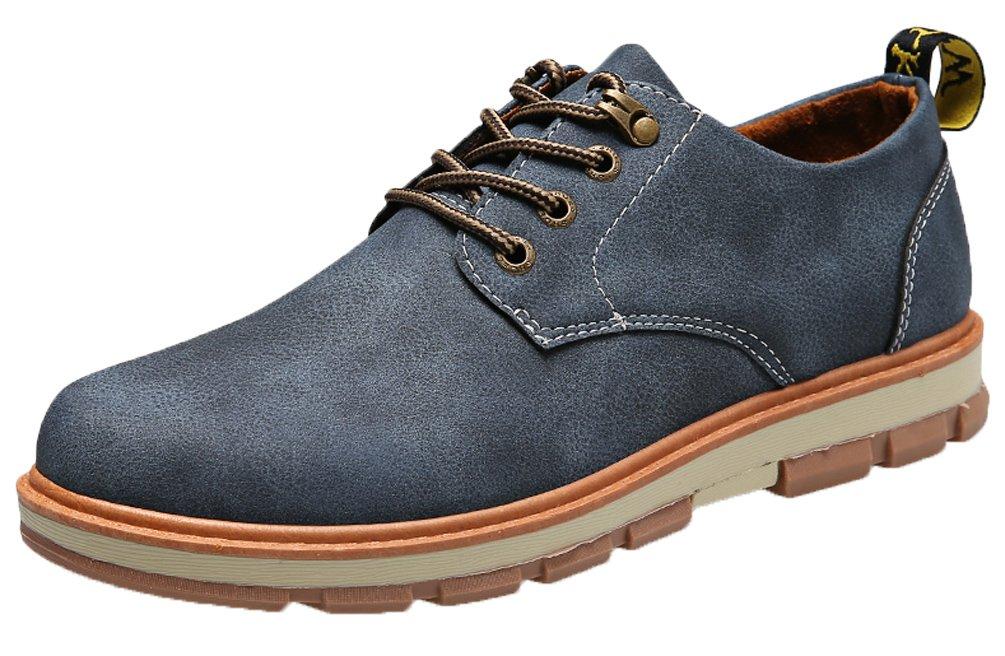 Herren Leder Schuhe Wildleder Klassiker Oxfords Schnürhalbschuhe von  Santimon Braun 44 RKROSzGsqm 2a61bd2dbb