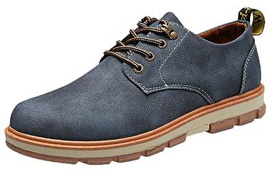 Schnürhalbschuhe herren Leder Schuhe Wildleder Klassiker Oxfords von Santimon Braun 40 WqODff6OaL