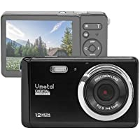 """Vmotal GDC80X2 Compact Digital Camera with 8x Digital Zoom / 12 MP/HD Compact Camera / 3"""" TFT LCD Screen Camera for Children/Beginners/Elderly (Black)"""