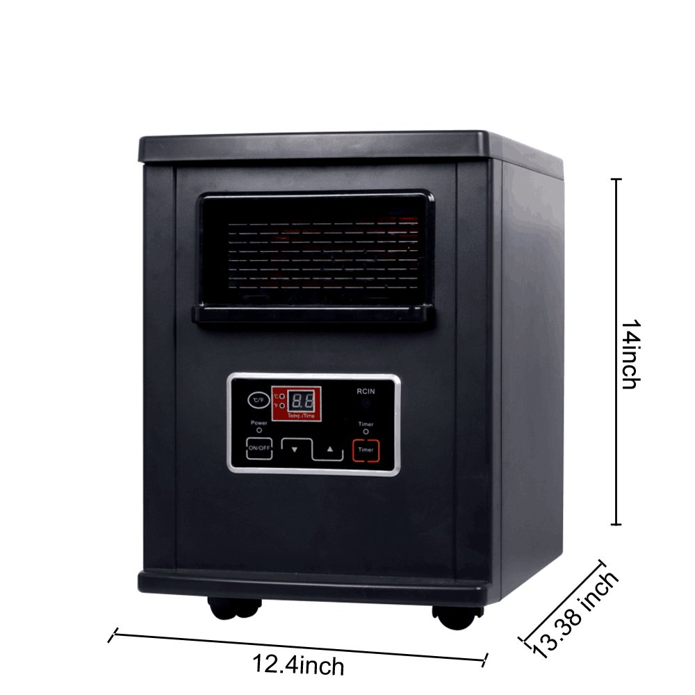 Homeleader Electric Space Heater, IWH-07 Digital Infrared Quartz Heater, 1000W