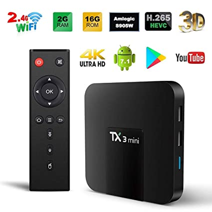 mini kitty Caja Inteligente TV Android 7.1 Quad Core Smart TV Box Arm Cortex-A53