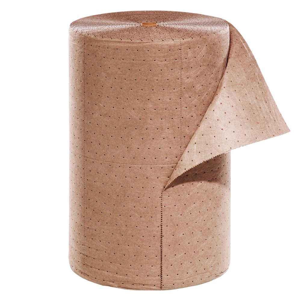 New Pig Brown Oil-Only Absorbent Mat Roll, Lightweight, 32-Gal Absorbency, Looks Cleaner for Longer, Absorbs Oils & Fuels, Repels Water, 300' L x 24'' W, 1 Roll, MAT545 by New Pig Corporation