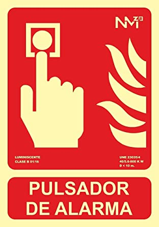 Normaluz A00411 - Señal Luminiscente Pulsador de Alarma ...