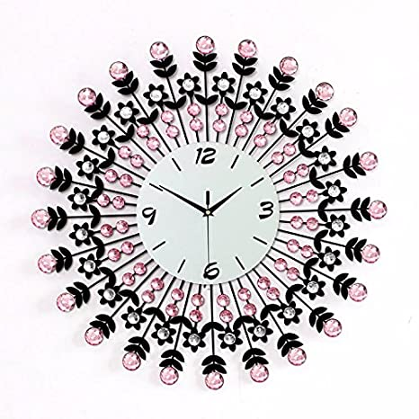 Amazon.com: G. Medalis Wall Clock Quartz Design Non-ticking Silent Home/Kitchen/Office/School Wall Clock, Easy to Read Stylish Atmosphere Wrought Iron With ...